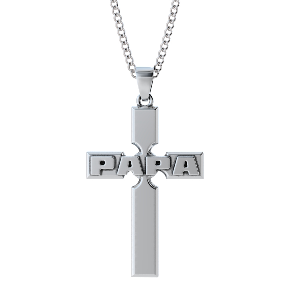 Papa Cross Necklace