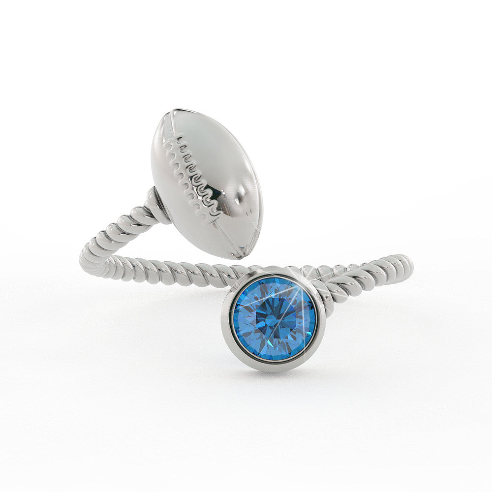 Football Birthstone Ring