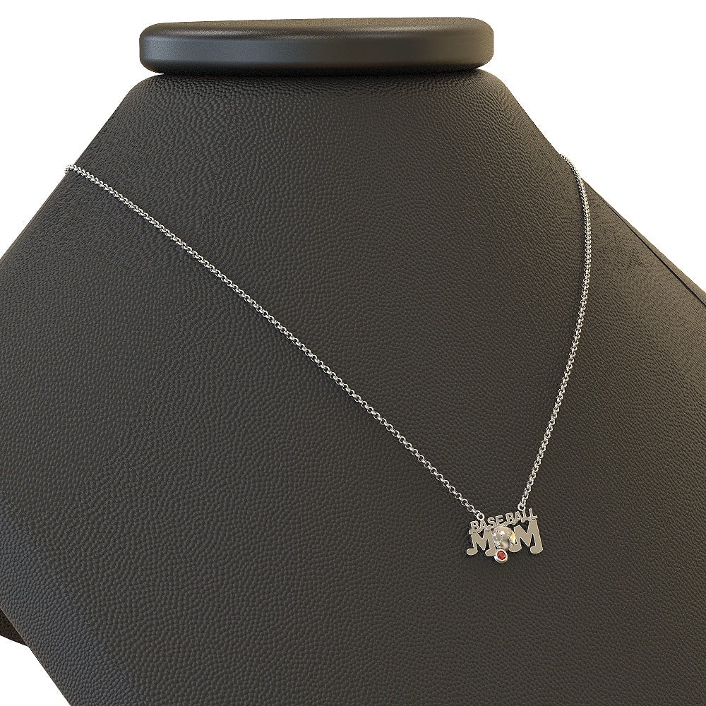 Baseball Mom - Birthstone Necklace