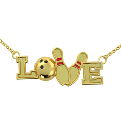 Bowling Love Necklace