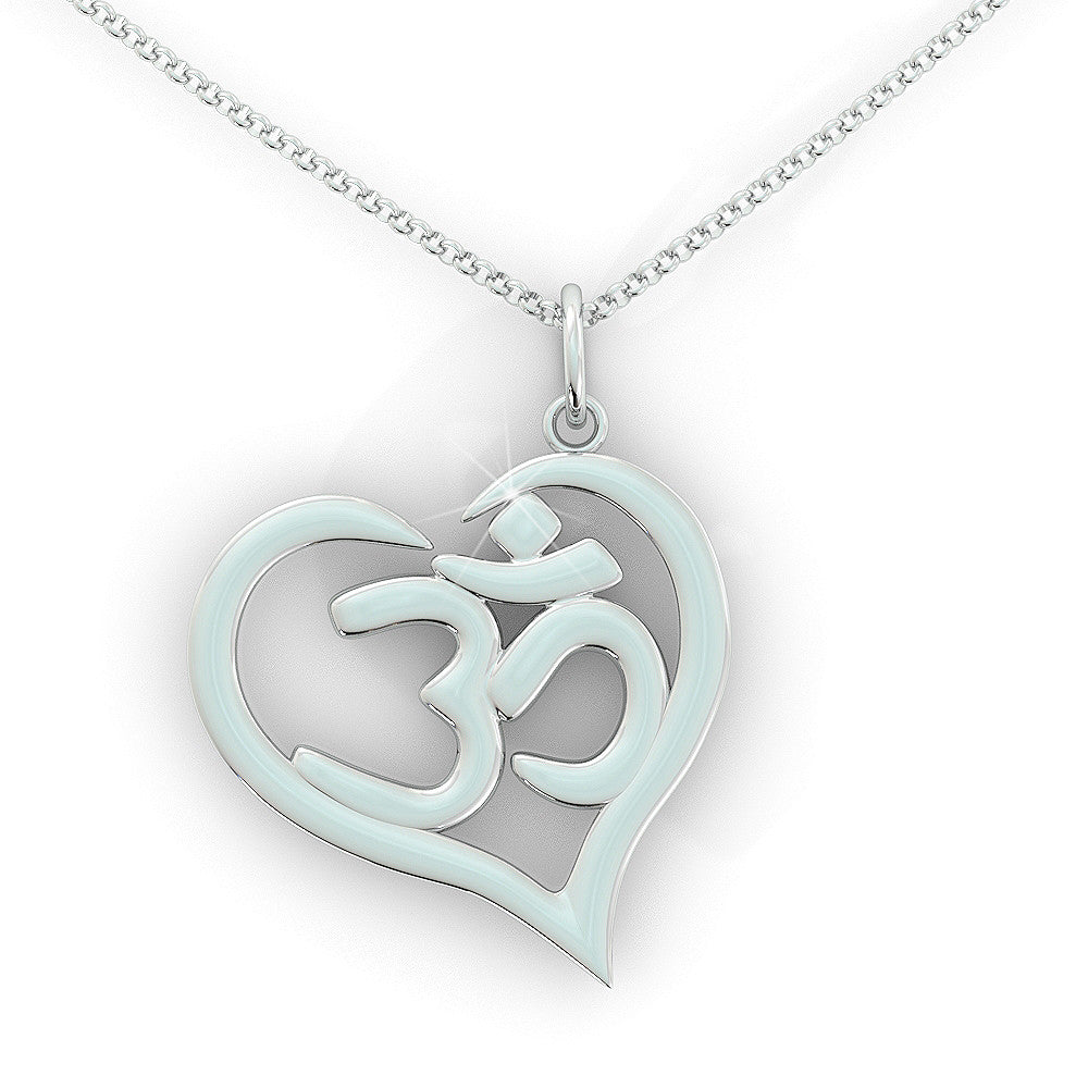 Love Yoga Necklace .925 silver