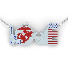 Marine love Necklace (.925 silver)