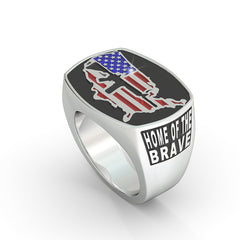 USA Gun Flag Ring