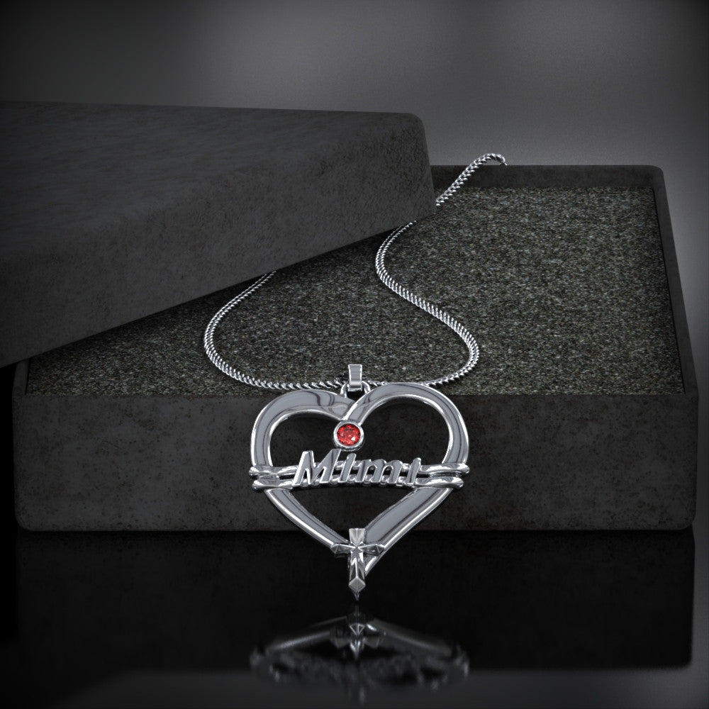 MIMI Heart Birthstone Necklace