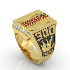 Bowling Perfect Game Ring