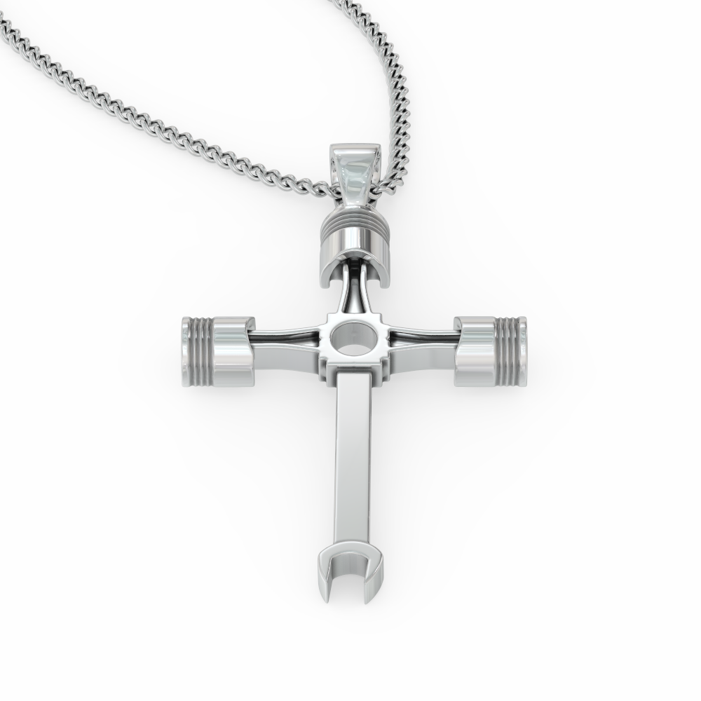 Piston and Wrench Necklace