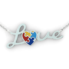Autism Love Necklace and Pendant