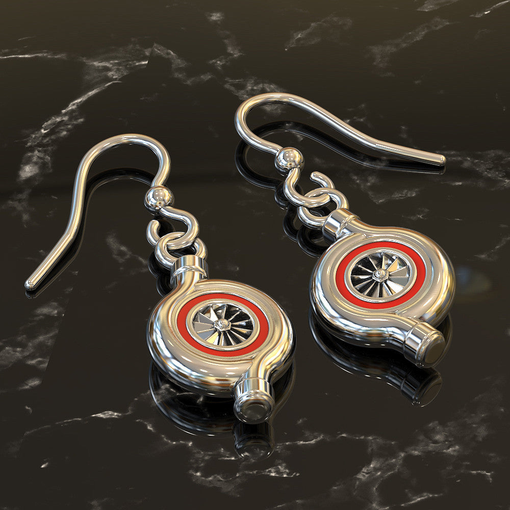 Turbocharger Earrings