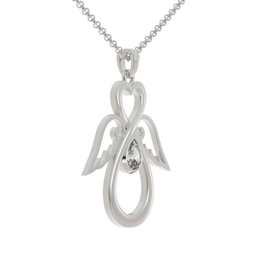 Oil Angel Birthstone Pendant