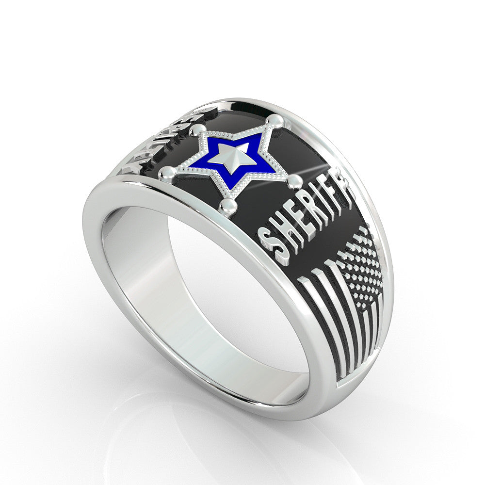 Deputy Sheriff Hold the Line Ring