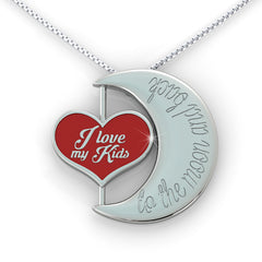 I Love my KIDS to the Moon and Back Necklace