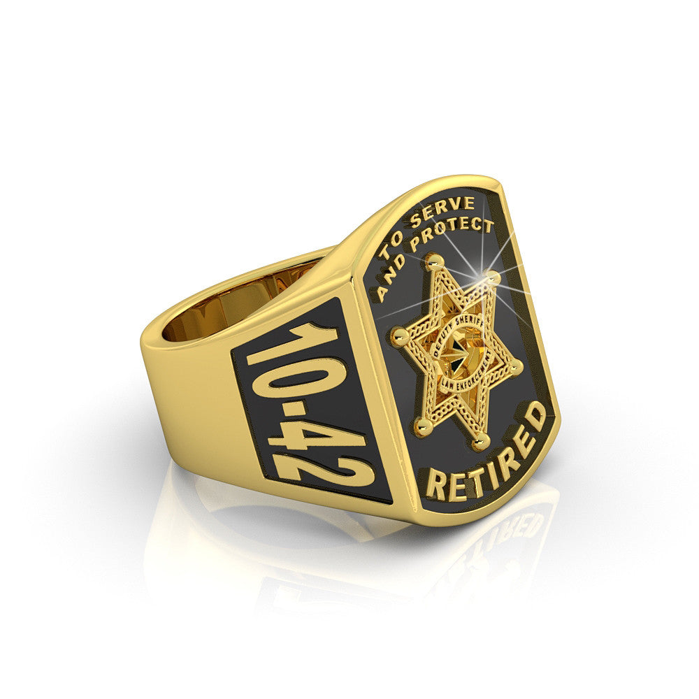 Retired Deputy Sheriff 6 point star Ring - Limited Edition