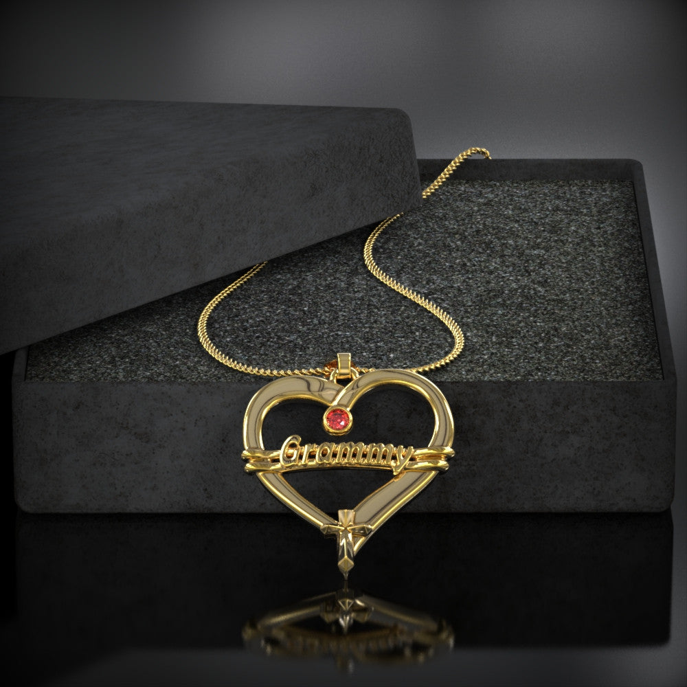 GRAMMY Heart Birthstone Necklace
