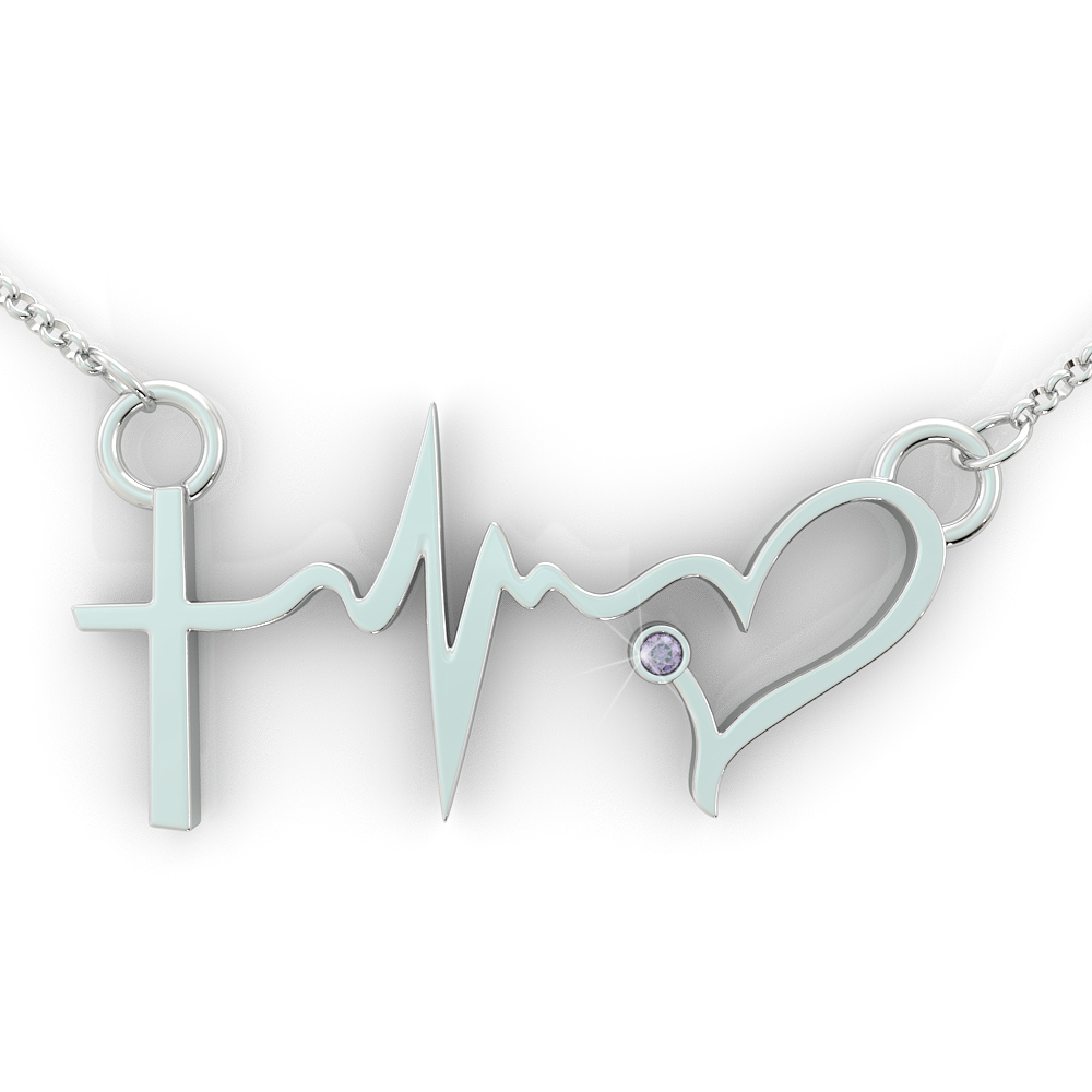 Faith Hope Love Birthstone Pendant (.925 silver)