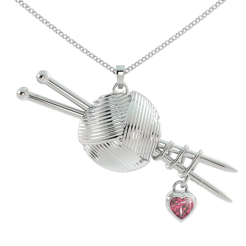 Knitting Love - Birthstone Pendant