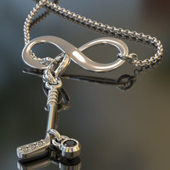 Infinity Hockey Necklace