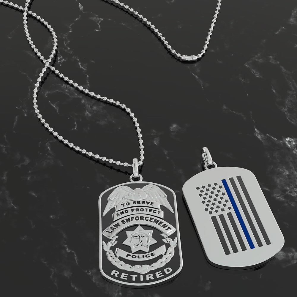 Retired Police Dogtag Pendant