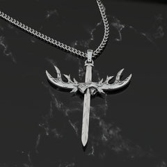Antler Cross Pendant