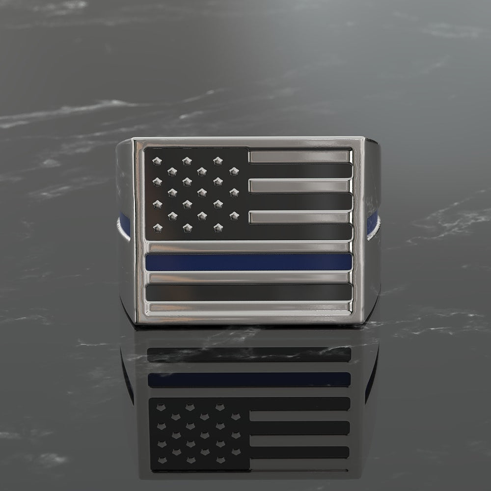 Blue Line Flag Ring