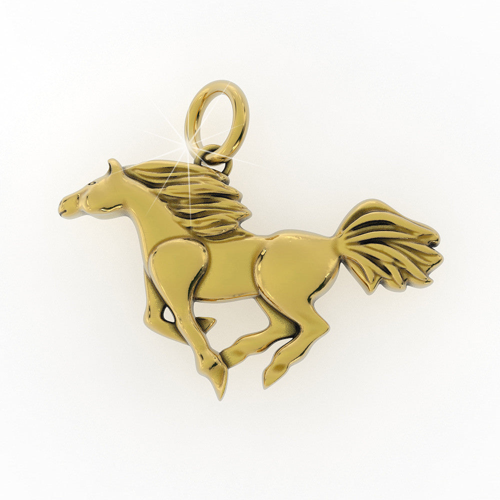 Polished Horse Pendant