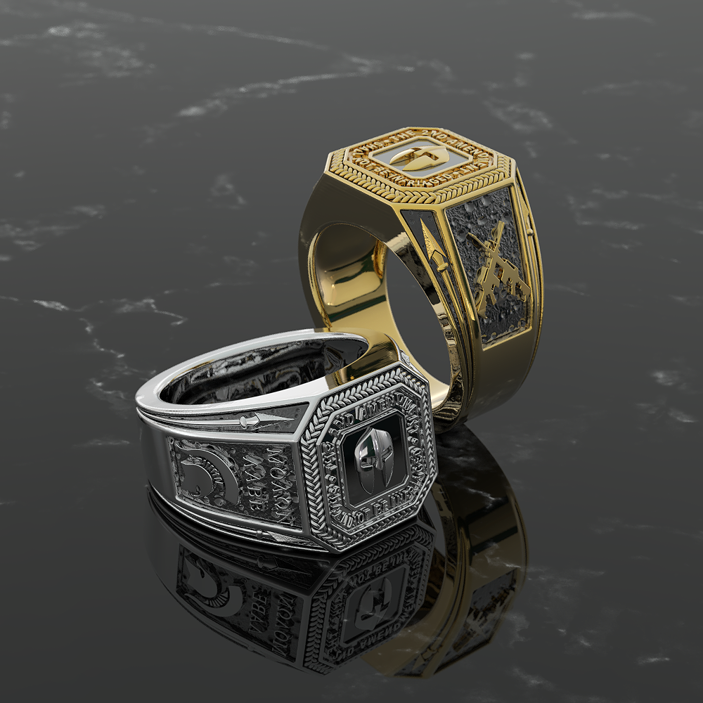 Exquisite Second Amendment Ring