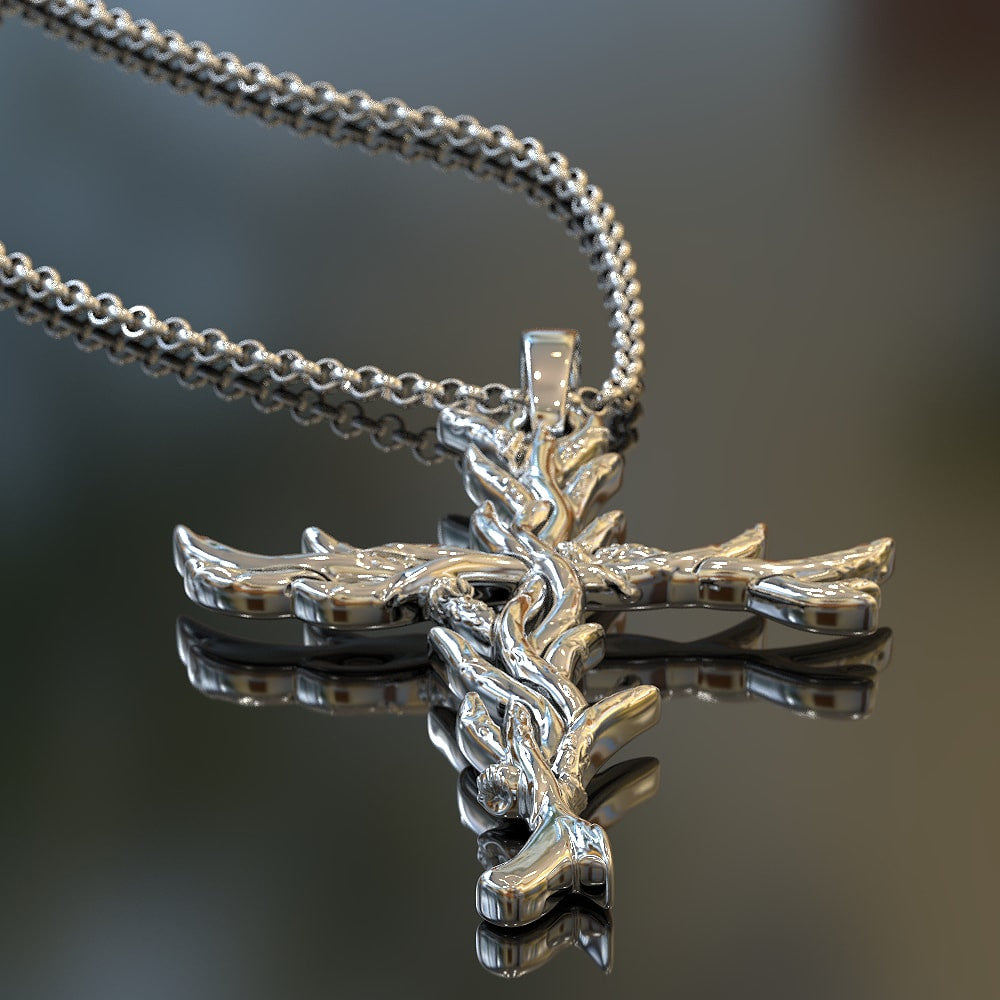 Deer Cross Pendant