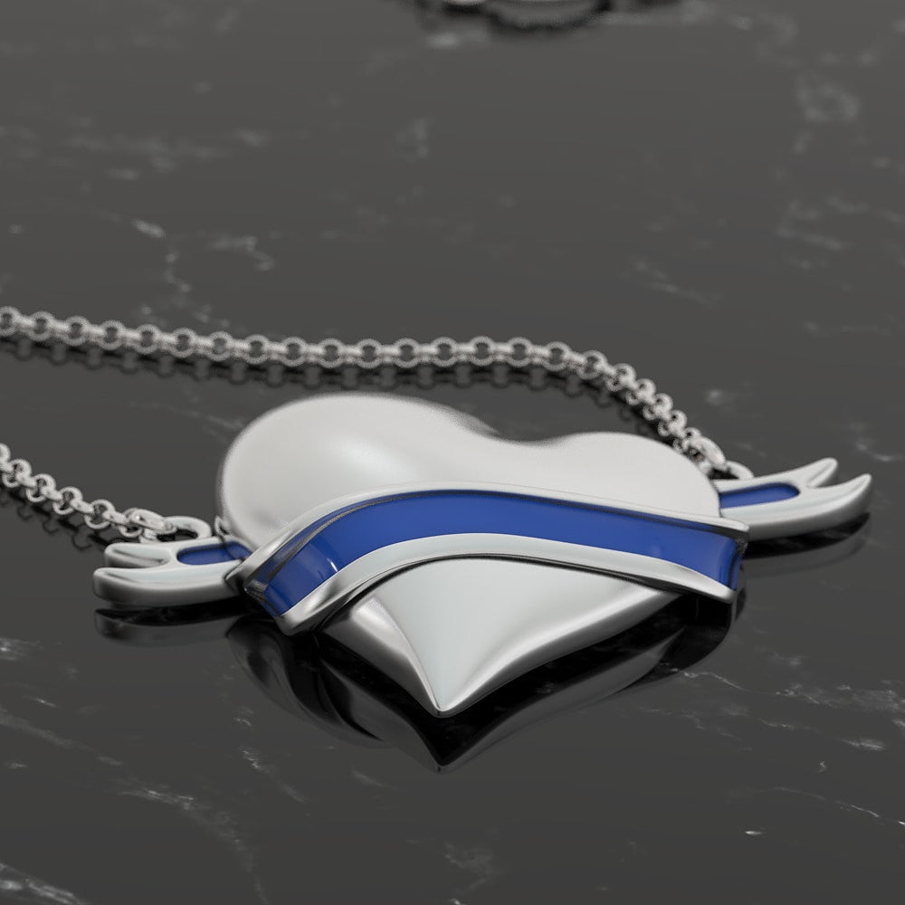 Heart Wrapped In Blue - Thin Blue Line