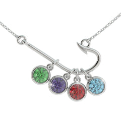 Fishing Birthstone Necklace