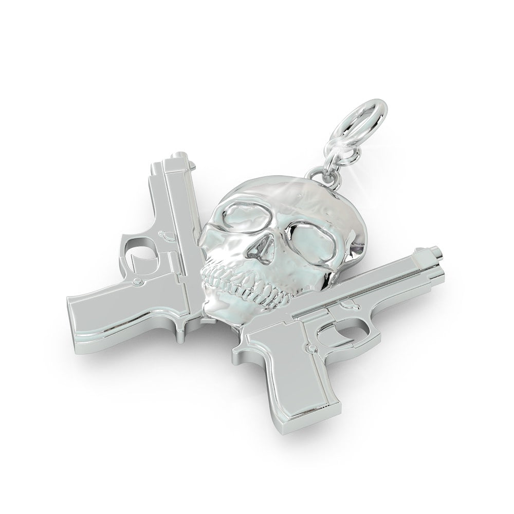 Second Amendment Skull Pendant