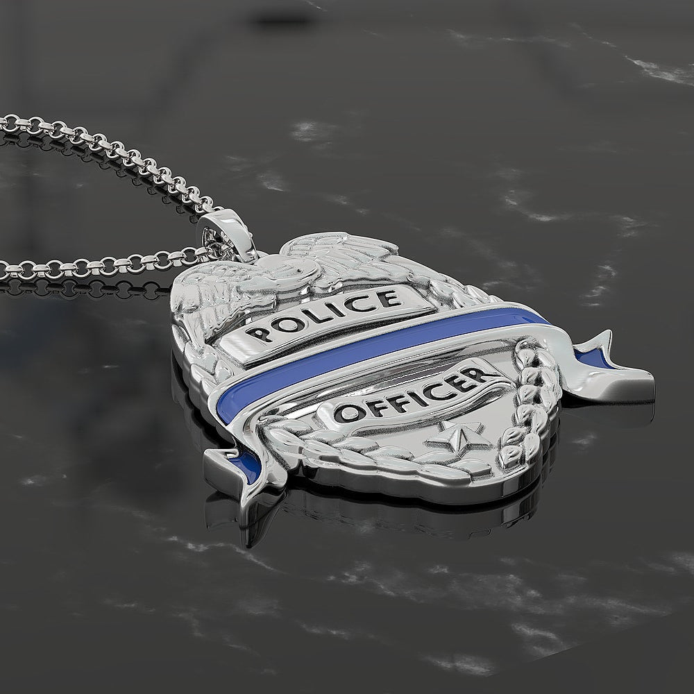 Badge Wrapped In Blue