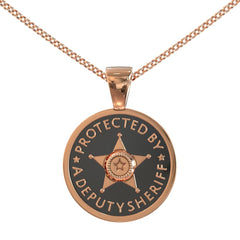 Protected by a Deputy Sheriff Pendant
