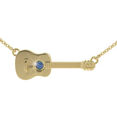Guitar Love - Birthstone Pendant