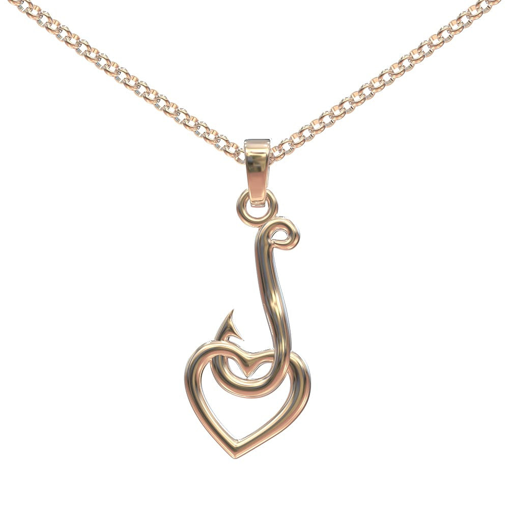 Hook and Heart Pendant
