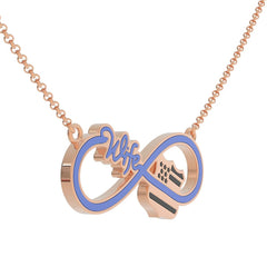 Infinity Police Wife Necklace