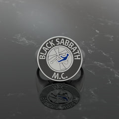 Men's Round Black Sabbath MC Ring