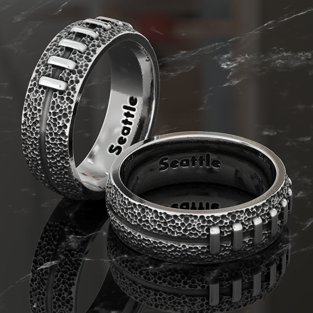 Seattle Football Wedding Band