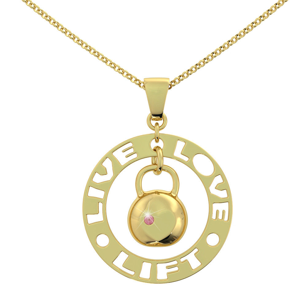 Live Love Lift Birthstone Pendant