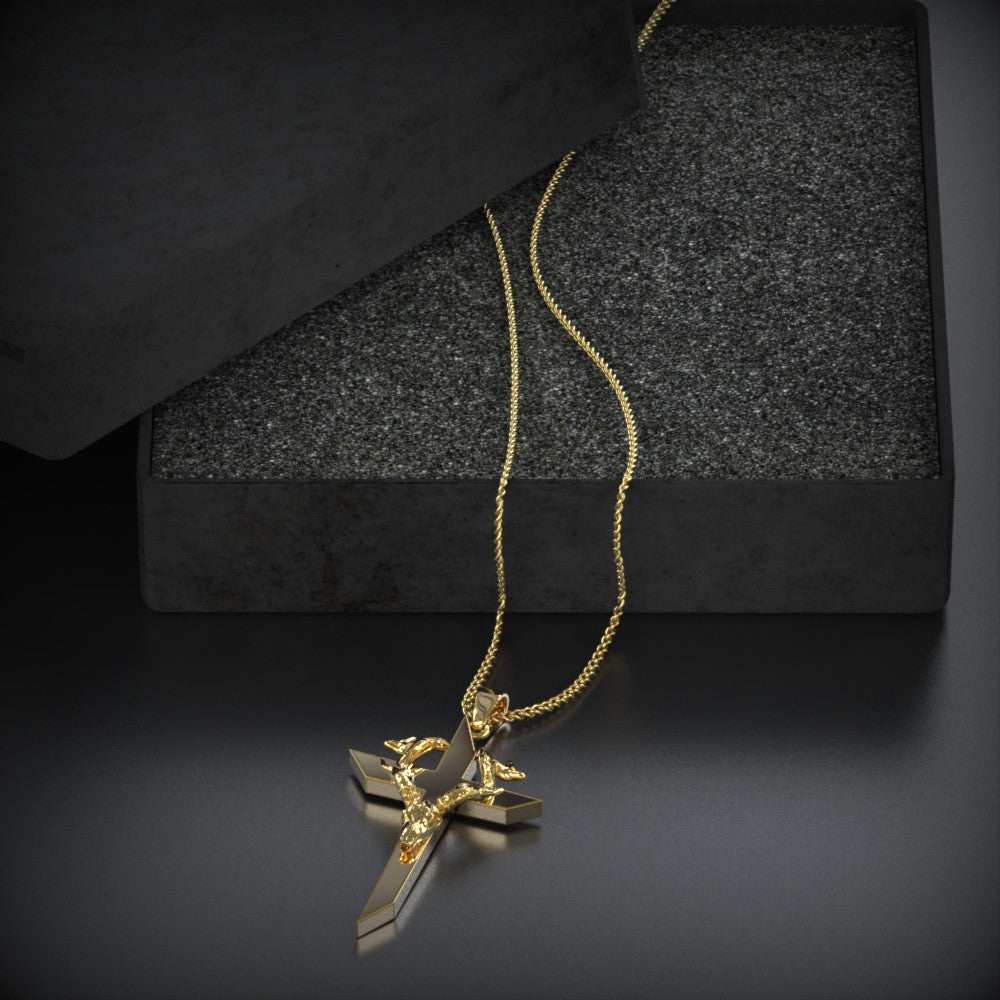 Cross Deer Skull Necklace - LIMITED EDITION