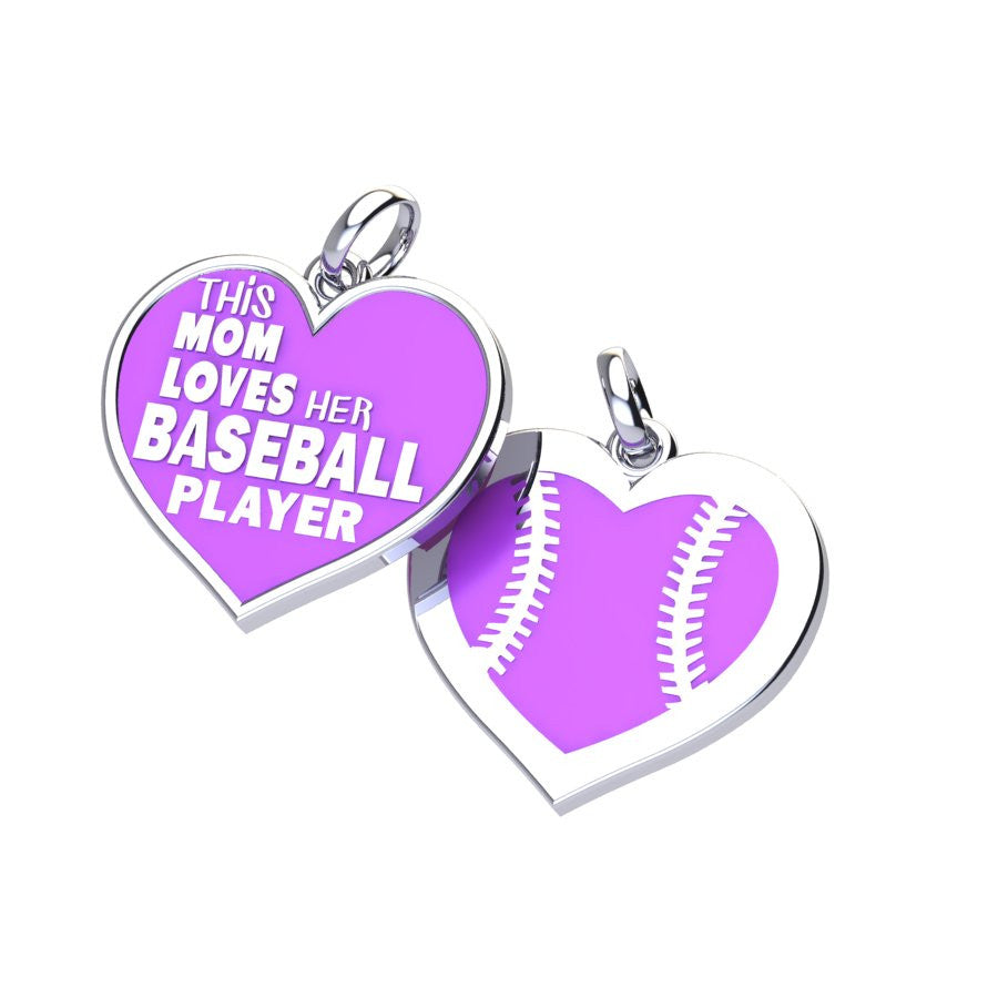 Baseball Mom Love Charm