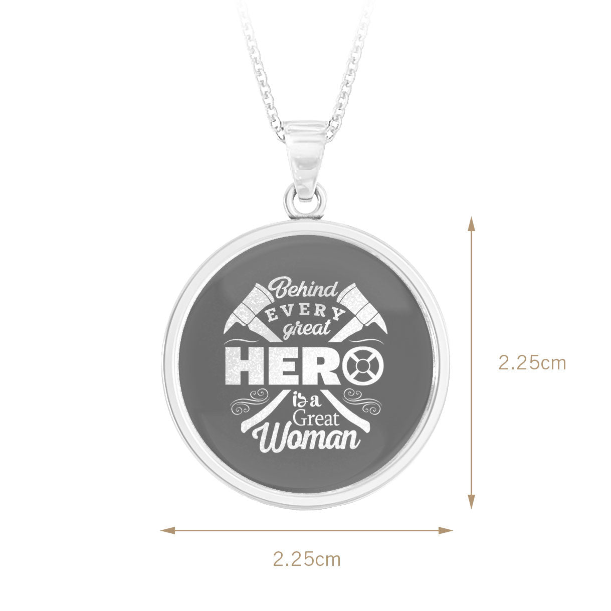 Behind Every Hero Firefighter Pendant