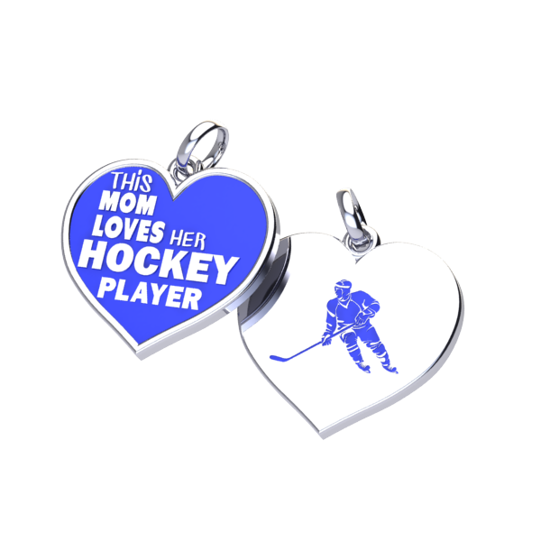 Hockey Mom Love charm (.925 silver)