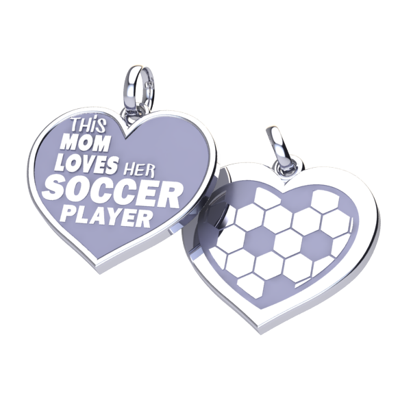 Soccer Mom Love charm (.925 silver)