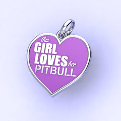 This Girl loves her Pitbull charm
