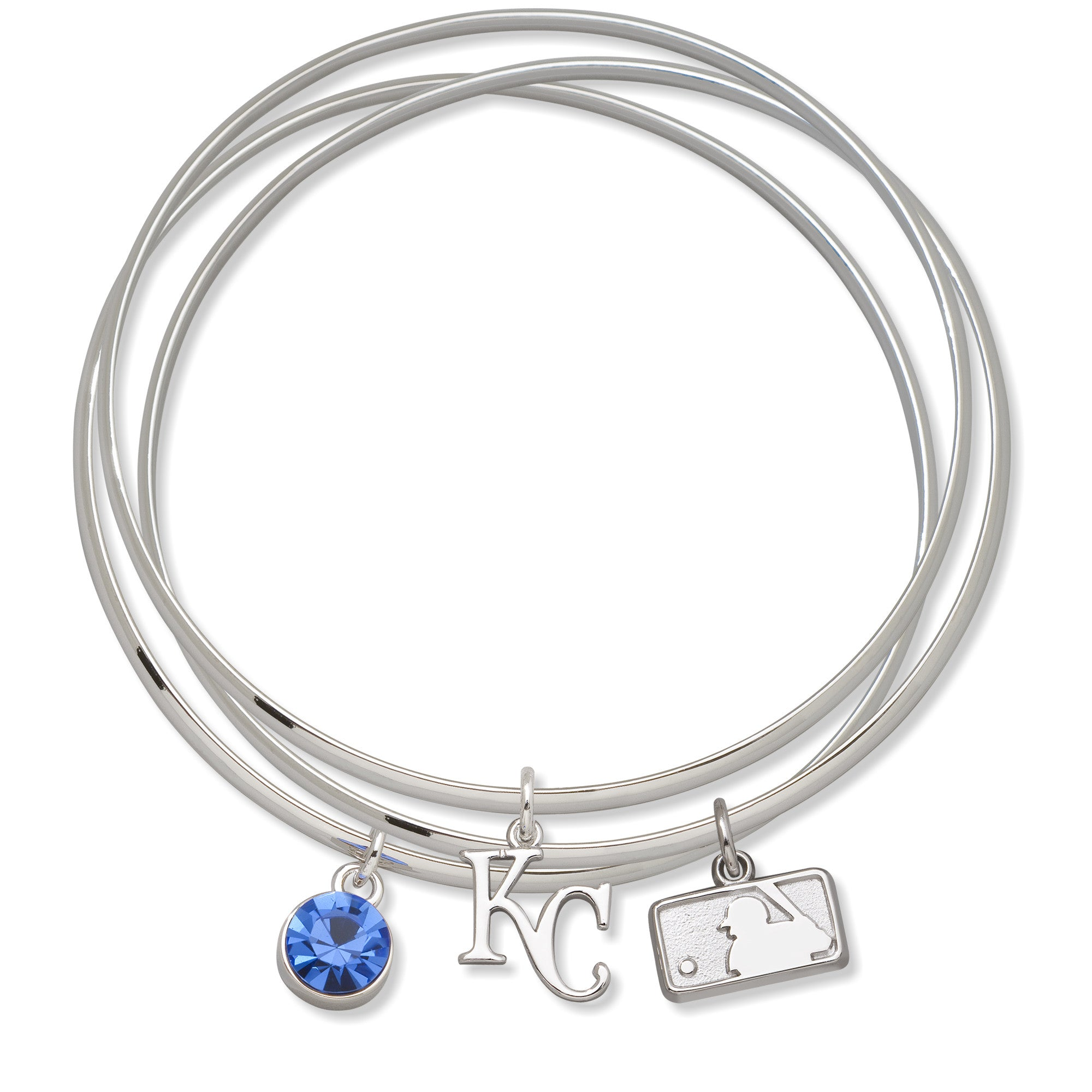 KANSAS CITY ROYALS BATTERMAN TRIPLE BANGLE