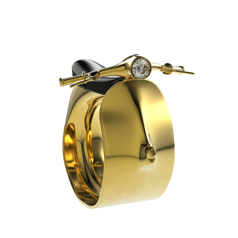 Golden Scooter Ring