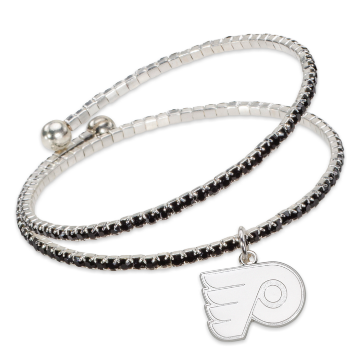 PHILADELPHIA FLYERS AMPED LOGO CRYSTAL BRACELET