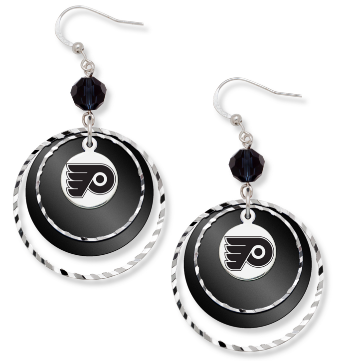 PHILADELPHIA FLYERS GAME DAY EARRINGS
