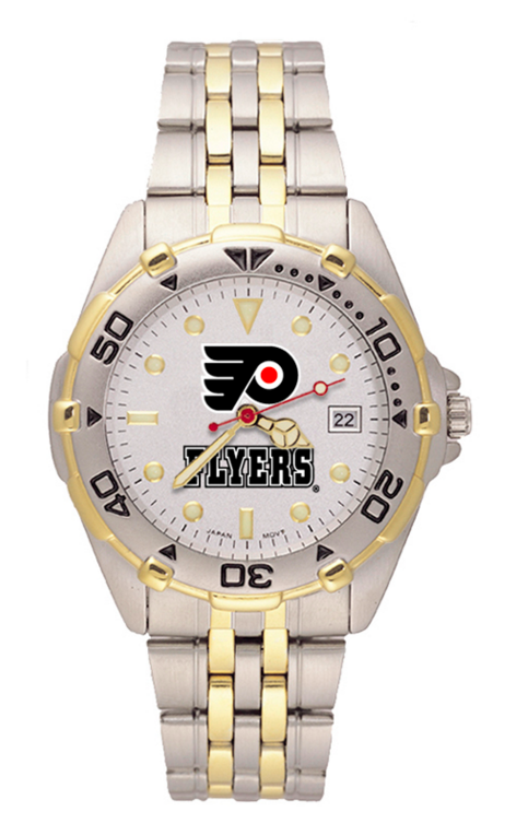 PHILADELPHIA FLYERS  MAN'S ALL-STAR BRACELET WATCH