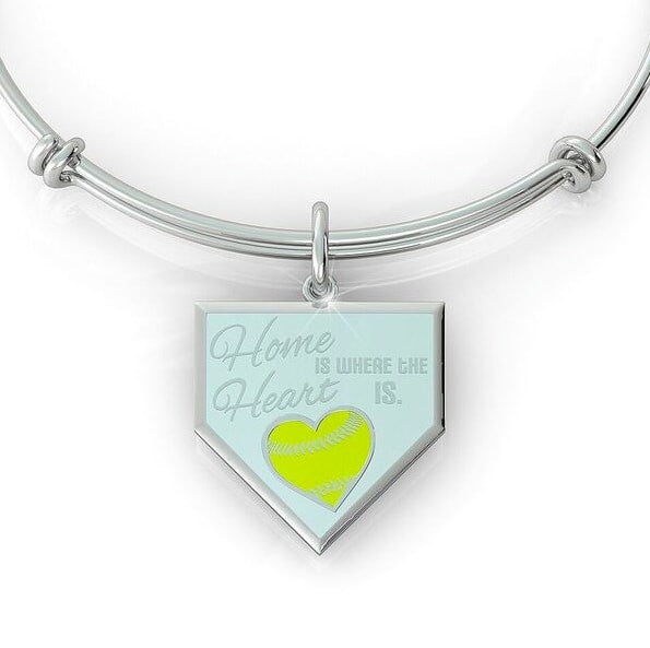 Home is where the Heart is - Softball (.925 silver)