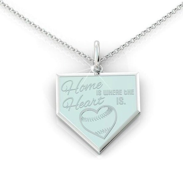 Home is where the Heart is - Baseball (.925 silver)